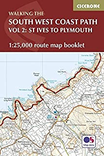South West Coast Path Map Booklet - St Ives to Plymouth: 1:25,000 OS Route Mapping