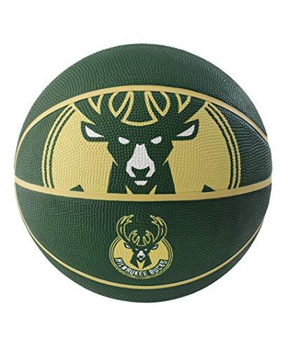%19 OFF! NBA Milwaukee Bucks Spaldingteam Logo, Green, 29.5