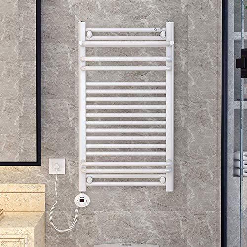 Home Equipment Toalla calefactable Calentador de toallas montado en la pared con estante superior en enchufe eléctrico de bajo consumo de 80 W Toallero calefactado para riel calefactor de toallas d