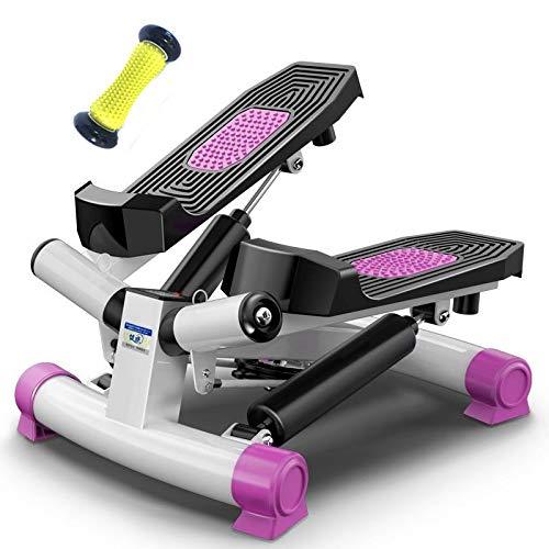 RGFITNESS Stepper Fitness Crosstrainer/Schreibtisch Elliptisch mit eingebautem Monitor, einfache Montage, Einstellbarer Widerstand, leise und kompakt,Purple