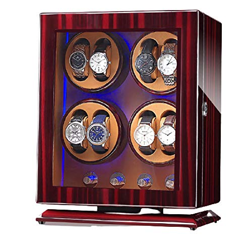 YLXD Automatic Watch Winder Box, Watch Winders for Mens, Piano Finish...