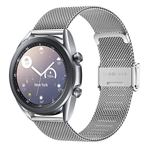 Correa para Galaxy Watch 3 41mm, 20mm Correa De Acero Inoxidable Metal Correa para Galaxy Watch 42mm/ Galaxy Watch 4 Classic 46mm 42mm/ Active 2 40mm 44mm/ Watch 4 Band 44 mm 40 mm/ Amazfit GTS