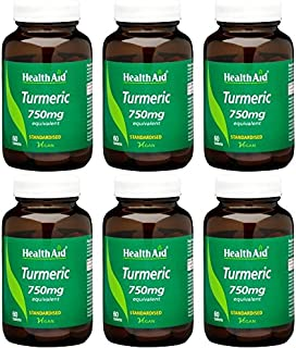 (6 Pack) - HealthAid - Turmeric (Curcumin) 750mg | 60's | 6 Pack Bundle