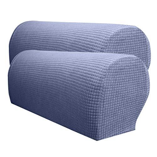HIGHKAS 2 x wasserdichte rutschfeste maschinenwaschbare Spandex-Stretch-Bequeme und weiche Armlehnenbezüge Couch Armchair Arm Protector, Lila