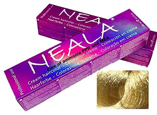 NEALA tinte permanente profesional para el cabello sin amoniaco y sin PPD - 12.3- SUPERACLARANTE DORADO - NEALA 100ml.