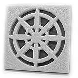 Rejilla decorativa cuadrada para ventilación de exterior (EDG-02)