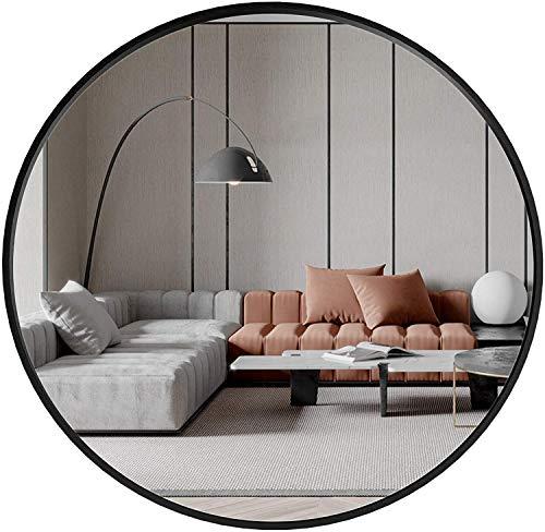 DHWH Miroir de Salle de Bain Rond Mural,Miroir de Maquillage, Noir, Blanc, Or, Miroir Créatif de Décoration de La Maison, 40CM, 50CM, 60CM, 70CM, 80CM