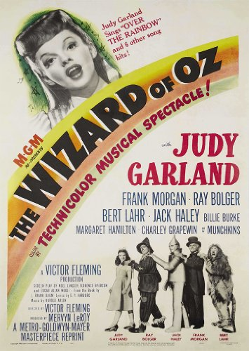 OMG Printing Vintage The Wizard Of OZ Judy Garland Movie Film A3 Poster/Print/Picture 280GSM Satin Photo Paper