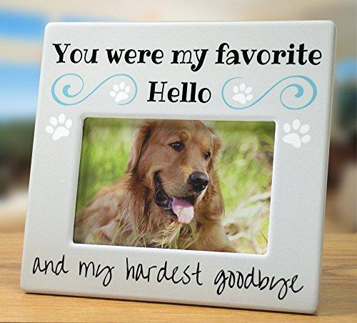 BANBERRY DESIGNS Gedenktafel für Haustiere Bilderrahmen–Foto Rahmen für Hund oder Katze–Trauer You were My Favorite Hello und My härtesten Goodbye–4x 6Rahmen