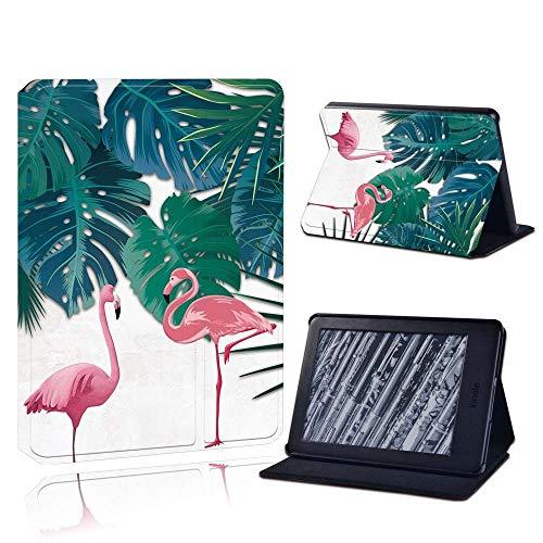 Moda Anti-Stof Voor Amazon Kindle 8/10Th 2016 2019 / Paperwhite 1/2/3/4 Gedrukt Flamingo Tablet Lederen Lector Stand Folio Shockproo Funda De Cubierta, Blanco, Kindle 8A Generación 2016