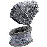 Bestele Caldo Cappello e Sciarpa Set per Uomo/Donna, Unisex Inverno Warmer Beanie Cappelli...