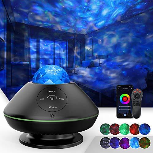 TATE GUARD Projecteur ciel étoilé à LED avec musique, projecteur de lumière étoilée océan, 10 modes de couleurs…