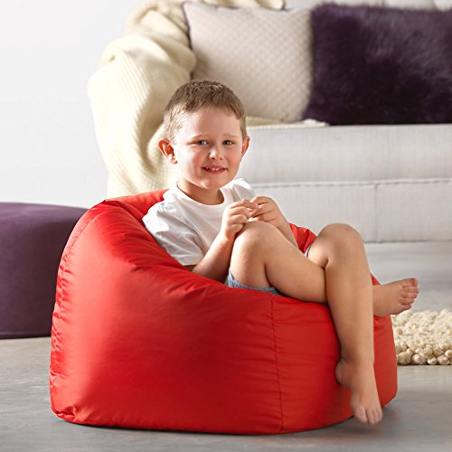Sitz Sack Bazaar® Large Kinder Sitzsack – 100{fd301c1934bdd670305fd5336b918f86a0b96569551da27f5483ab2c4b0b52db} Wasserabweisend Indoor & Outdoor Riesen Kinder Bean Bag (Rot)