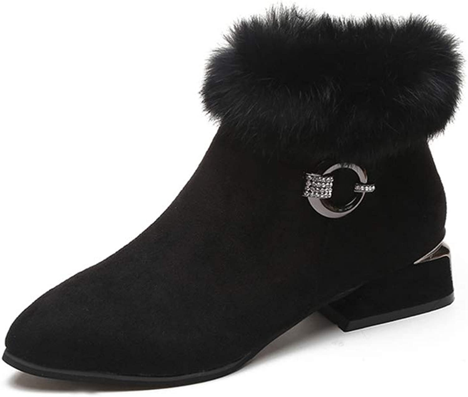 Quality.A Women's Martin Boots British Wind Booties Classic Casual Boots