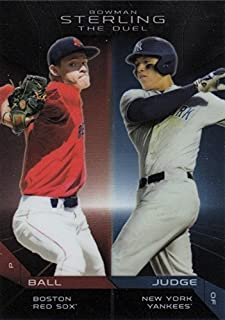 2013 Bowman Sterling The Duel - Aaron Judge & Trey Ball - Baseball Rookie Cards RC #TD-BJ
