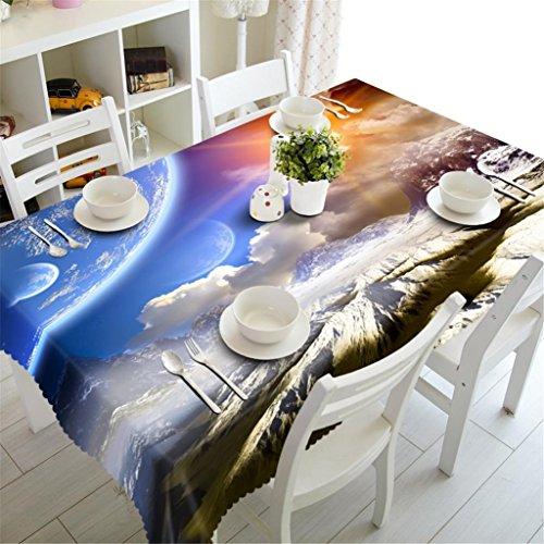 Nappe 3D Neige Montagne paysage naturel Polyester Impression Epaissie à la poussière Table Dessus Couverture Cuisine Décoration Diverses Tailles , 2 , h
