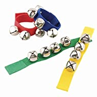 Wrist Bells - Includes Velcro Closure with 4 bells! (Set of 4 - One of each color)