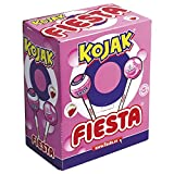 FIESTA Kojak Caramelo con Palo Sabor Helado de Fresa Relleno de Chicle - Caja de 100 unidades
