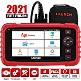 LAUNCH Scanner CRP123X Elite Code Reader, 2021 Newest OBD2 Car Diagnostic Scanner for ABS SRS Transmission Engine Scan Tool with Battery Test,Android 7.0,5.0''Touchscreen,AutoVIN, Lifetime Free Update