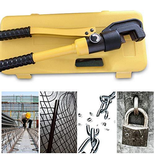 8T Hydraulischer Bolzenschneider,Baustahlschneider, Schneidwerkzeuge,Portable Handschneider,Hydraulikschneider, Mattenschneider für 4-16mm Rebar