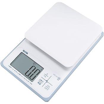 タニタ キッチンスケール はかり 料理 防水 デジタル 2kg 0.1g単位 KW-220 WH 洗えるキッチンスケール