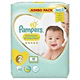 Pampers Premium Protection Windeln, Gr. 2 (4-8kg), Jumbopack, 1er Pack (1x 68 Stück) - 6