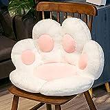 Anyinghh 70 / 80cm Creativo Lindo Paw Pillow Animal Asiento Cojín Sofá de Felpa Relleno Piso de Interior Silla de hogar Decoración Invierno Niños Niñas Regalo 70cm Blanco