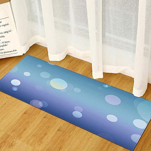XIAOZHANG Alfombras Franela Suave Ronda Simple Antideslizante Alfombrilla De Baño Sala De Estar Cocina Dormitorio De Interior Exterior 60X180Cm
