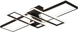 SJUN Lamparas De Techo LED Modernas Plaza Diseño Luz De Techo Salon lampara Techo Metal y Acrílico para Dormitorio Cocina lampara Iluminación de Techo [Clase de eficiencia energética A]