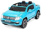 Coche ELÉCTRICO para NIÑOS Volkswagen AMAROK 12V RC (Azul)