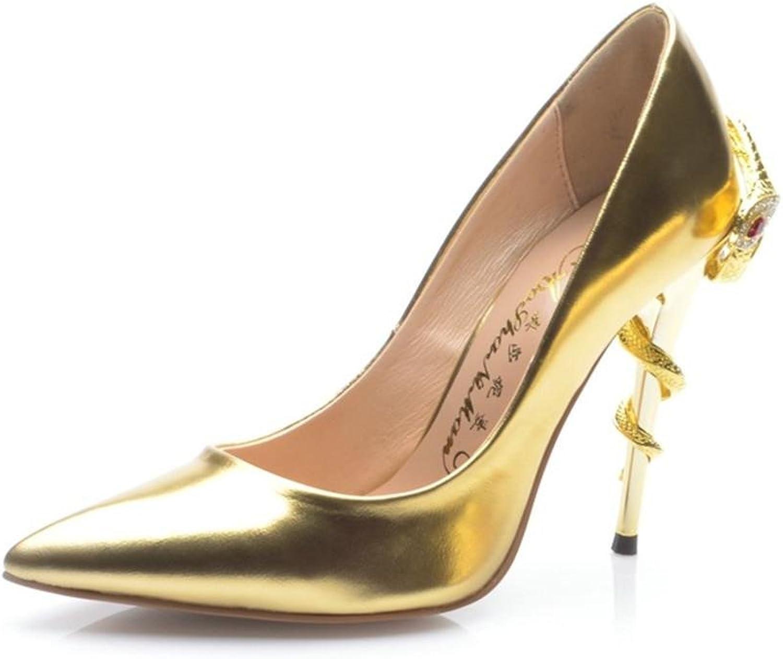 Gut mit Spitzen Spitzen Spitzen Metall Leder sexy Schuhe  7aa84d