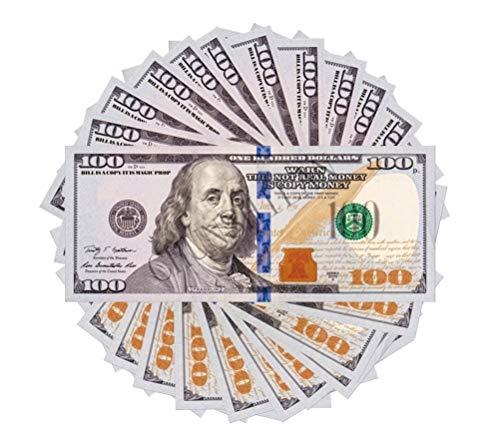CHUNSHILAN 100 pcs Total $10,000 100 Dollars Play Money for Games, Monopoly Prop Paper Copy Money Educational One Hundred Dollar Bills Copy Money