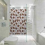 Autocollant pour salle de bain, décoration de salle de bain, motif ballon de rugby américain, style dessin animé SPO, facile à installer et à réutiliser film en verre, 59,9 x 119,9 cm