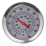 Home Brew Thermometer - Home Brew Equipment Brewing Thermometer for Wine and Beer Temperature 52mm Dial and 175mm Probe