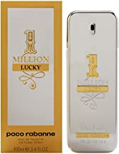 1 Million Lucky by Paco Rabanne Eau de Toilette Spray, 3.4 Fl Oz