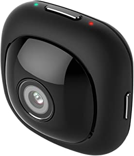 Andoer G1 Super Mini لاصق لاصق قابل للامتصاص محمولة محمولة محمولة محمولة محمولة عالية الدقة كاميرا جيب كاملة 120 درجة زاوية واسعة 1080P 30FPS تطبيق واي فاي التحكم عن بعد 8MP سيلفي