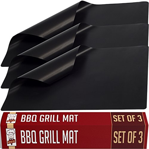 Twisted Chef BBQ Grill Mats Non Stick - Best for Charcoal and Gas Grills - Essential Grill...