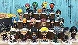 Naruto Akatsuki Anime Sakura Kakashi Sasuke Gaara Mini Action Figures Set 23 Pcs