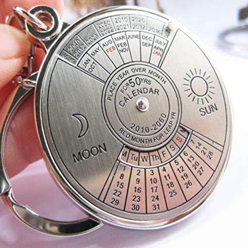 N/ A Calendario perpetuo Llavero LlaveroLlaves de MetalLlaveros deCadena Accesorios de Adorno de baratija