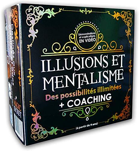 Magic Secret - Scatola magica per adulti - Mentalismo e illusioni - +35 trucchi magici professionali - da 9 anni - 60 video esplicativi (app iOS e Android) + 5 accessori + Coaching