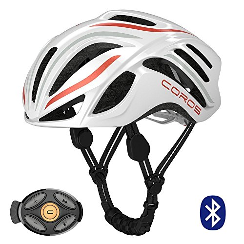 Coros Linx Smart Cycling Helmet w/Bone Conducting Audio | Fully Adjustable Sizing/Connects via...