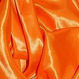 Flo Orange Seidiger Satin-Stoff, Meterware, Polyester, 150