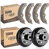 1. 10L0L Golf Cart Brake Maintenance Kit for 1996-2008 Electric EZGO TXT,Includes Brake Drums & Brake Shoes,OEM# 19186G1,70794G01, 70795G01