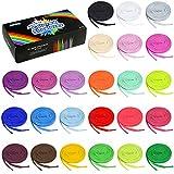 Auihiay 24 paia di lacci piatti colorati per scarpe da ginnastica, skate, scarpe sportive, stivali, 24 colori