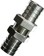 Metalwork 2 Pcs 304 Stainless Steel Hose Barb Fitting, Bulkhead Union (3/8