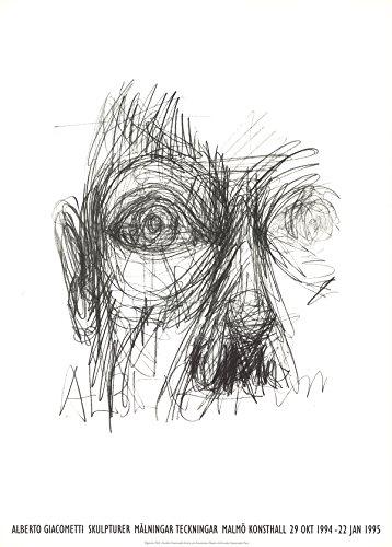 "Eyes by Alberto Giacometti 16.5""x11.75"" Art Print Poster"