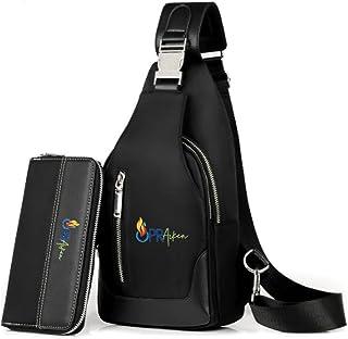 Sponsored Ad - OPRAIKEN Men's Chest Bag, Shoulder Bag, Waterproof and Wear-resistant, Oxford Cloth Bag, Youth Bias Bag