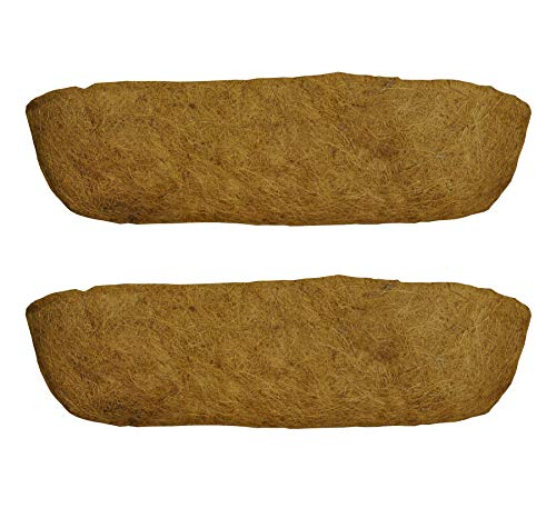 Selections Pack of 2 Garden Co-Co Wall Basket Planter Coco Trough Liner 75cm