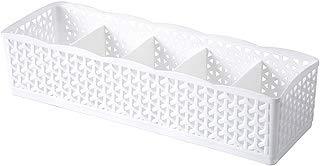 Potato001 Fashion Hollow Plastic Drawer Closet Storage Box Underwear Socks Tie Organizer (White)