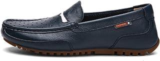 [QIFENGDIANZI] スリッポン メンズ  ドライビングシューズ  デッキシューズ  紳士靴 ウォーキングシューズ カジュアルシューズ スニーカー モカシン ローファー  フラットシューズ かかとが踏める 快適 コンフォート ブラック ブラウン ブルー